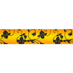7/8 Inch Sunset Floral Grosgrain Ribbon Closeout