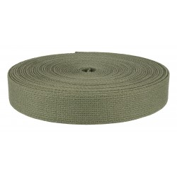 1 Inch Berry Compliant Olive Heavy Cotton Webbing Closeout