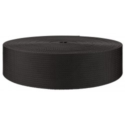2 Inch Black Heavy Nylon Webbing Closeout