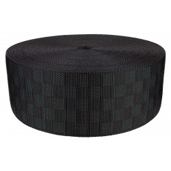 3 Inch Black Checkerboard Heavy Nylon Webbing Closeout