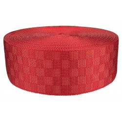 3 Inch Red Checkerboard Heavy Nylon Webbing Closeout