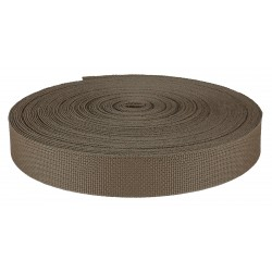 1 Inch Coyote Brown Medium Weight Nylon Webbing Closeout