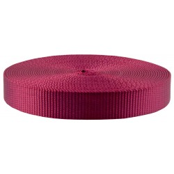 1 Inch Burgundy Super Heavy Nylon Webbing Closeout