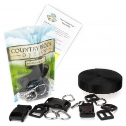 1 Inch Deluxe Dog Collar Kit with Nylon Webbing