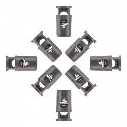 Cord Barrel Locks with Head Black Plastic