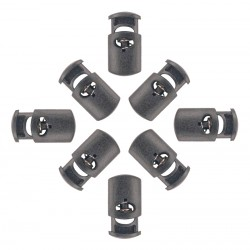 Oval Cord Locks Black Plastic
