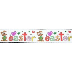 1 Inch Easter Cotton Ribbon - Various Lengths