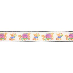 1 Inch Easter Bunny's Easter Egg Cotton Ribbon - Various Lengths