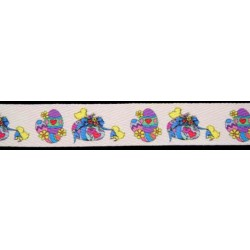 1 Inch Colorful Easter Eggs Cotton Ribbon, 1 Yard