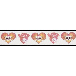 1 Inch Love You To Death Cotton Ribbon - Various Lengths