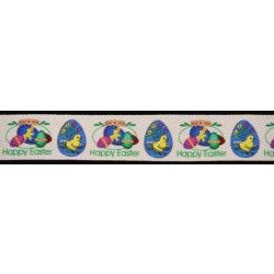 1 Inch Happy Easter! Cotton Ribbon - Various Lengths