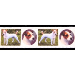 5/8 Inch Parson Russell Terrier Cotton Ribbon - Various Lengths