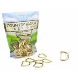 1 Inch Solid Brass Die Cast Square Bottom D-Rings