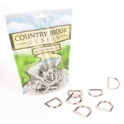 Country Brook Design® 1 Inch Die Cast Square Bottom D-Rings