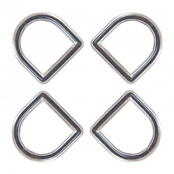 Country Brook Design® 3/8 Inch Die Cast Square Bottom D-Rings