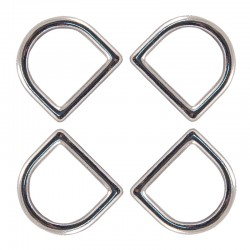 Country Brook Design® 5/8 Inch Die Cast Square Bottom D-Rings
