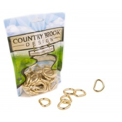 3/4 Inch Brass Plated Heavy Welded D-Rings