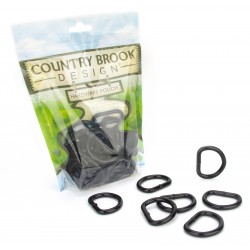 Country Brook Design® 1 Inch Steel Welded Powder Coated D-Rings