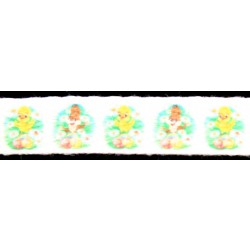 1/2 Inch Easter Egg Hunt Cotton Ribbon, 1 Yard