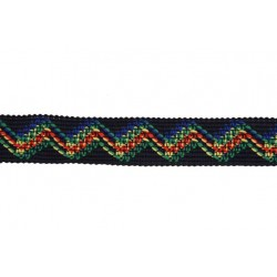 1 Inch Fiber Optic Zigzag Woven Ribbon