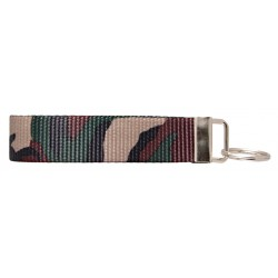 Country Brook Design® Woodland Camo Patterned Wristlet Key Fob Keychain