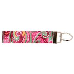 Country Brook Design® Pink Paisley Wristlet Key Fob Keychain