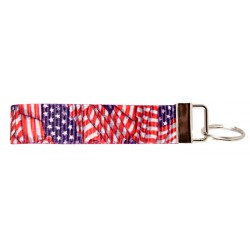 Country Brook Design® Patriotic Tribute Wristlet Key Fob Keychain