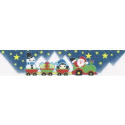 5/8 Inch Arctic Express Grosgrain Ribbon Closeout, 1 Yard