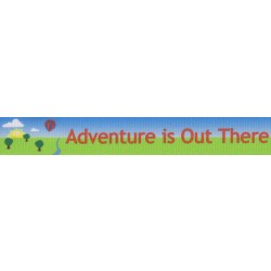 7/8 Inch Adventure is Out There Grosgrain Ribbon Closeout, 10 Yards