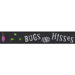 7/8 Inch Bugs and Hisses Grosgrain Ribbon