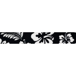 Black Hawaiian Grosgrain Ribbon