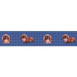 Blue Pekingese Grosgrain Ribbon