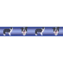 Border Collie Grosgrain Ribbon