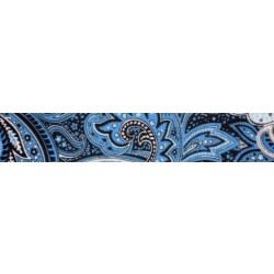 Blue Paisley Grosgrain Ribbon