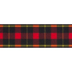 5/8 Inch Black and Red Plaid Grosgrain Ribbon, 1 Yard