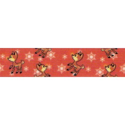 5/8 Inch Baby Rudolph Grosgrain Ribbon Closeout, 10 Yards