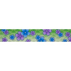 Blue April Blossoms Grosgrain Ribbon