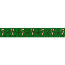 Candy Cane Christmas Grosgrain Ribbon