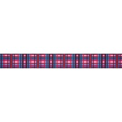 7/8 Inch Cotton Candy Plaid Grosgrain Ribbon Closeout, 5 Yards