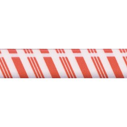 7/8 Inch Candy Cane Stripes Grosgrain Ribbon