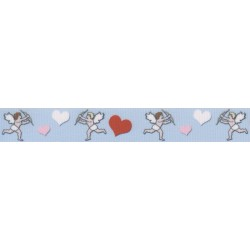Valentine's Cupid's Hearts Grosgrain Ribbon