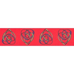 7/8 Inch Celtic Motherhood Knot Grosgrain Ribbon, 1 Yard