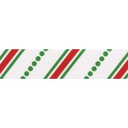7/8 Inch Candy Stripes Grosgrain Ribbon Closeout, 1 Yard