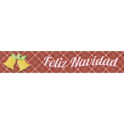 7/8 Inch Feliz Navidad Grosgrain Ribbon Closeout, 10 Yards