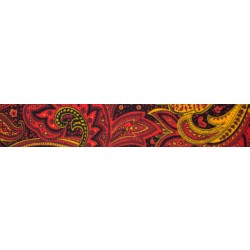 1 1/2 Inch Fire Paisley Grosgrain Ribbon