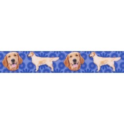 7/8 Inch Golden Retriever Grosgrain Ribbon
