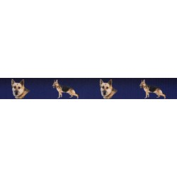 7/8 Inch German Shepherd Grosgrain Ribbon