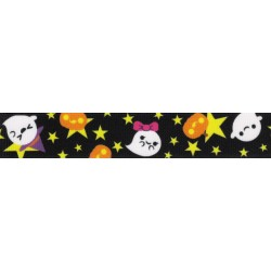 7/8 Inch Delightful Haunt Grosgrain Ribbon Closeout, 1 Yard