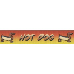 7/8 Inch Hot Dog Grosgrain Ribbon Closeout, 1 Yard