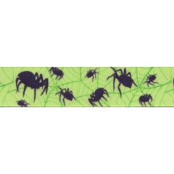 5/8 Inch Itsy Bitsy Spider Grosgrain Ribbon Closeout, 1 Yard